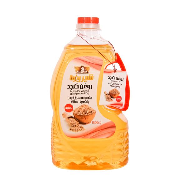 روغن کنجد تصفیه شده شیررضا 1800 سی سی