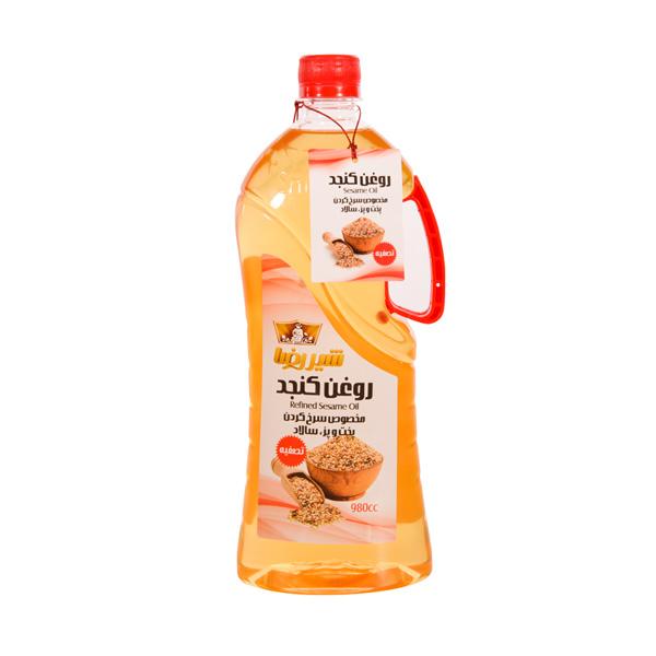 روغن کنجد تصفیه شده شیررضا 980 سی سی