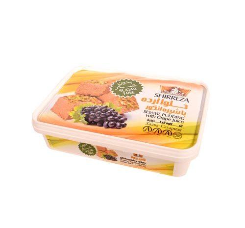 حلوا ارده با طعم انگور شیررضا 400 گرمی