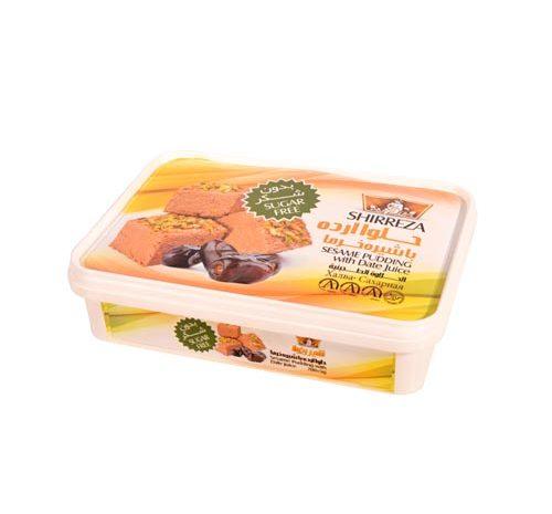 حلوا ارده با طعم شیره خرما شیررضا 400 گرمی
